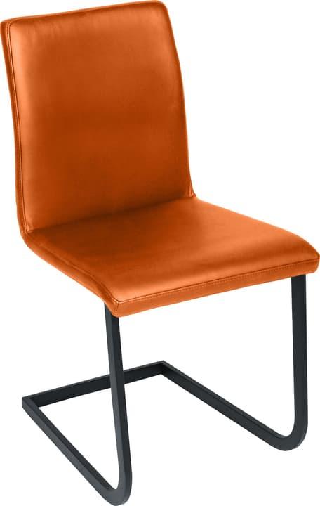 SANTORO Chaise en porte-à-faux 402355700057 Dimensions L: 43.0 cm x P: 55.0 cm x H: 86.0 cm Couleur Orange Photo no. 1