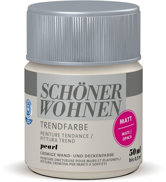 Testeur de couleur tendance Pearl 50 ml Schöner Wohnen 660908600000 Couleur Pearl Contenu 50.0 ml Photo no. 1