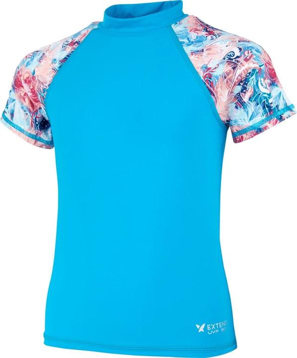 T-shirt de bain U.V.P. pour fille Extend 466902512844 Couleur turquoise Taille 128 Photo no. 1