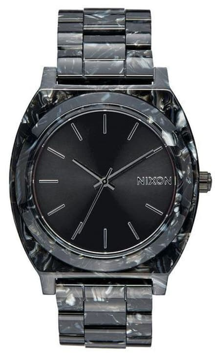 Time Teller Acetate Black Silver 40 mm Montre bracelet Nixon 785300137038 Photo no. 1