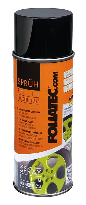 Pellicola Spray verde toxic 400 ml Spray per cerchioni FOLIATEC 620282300000 N. figura 1
