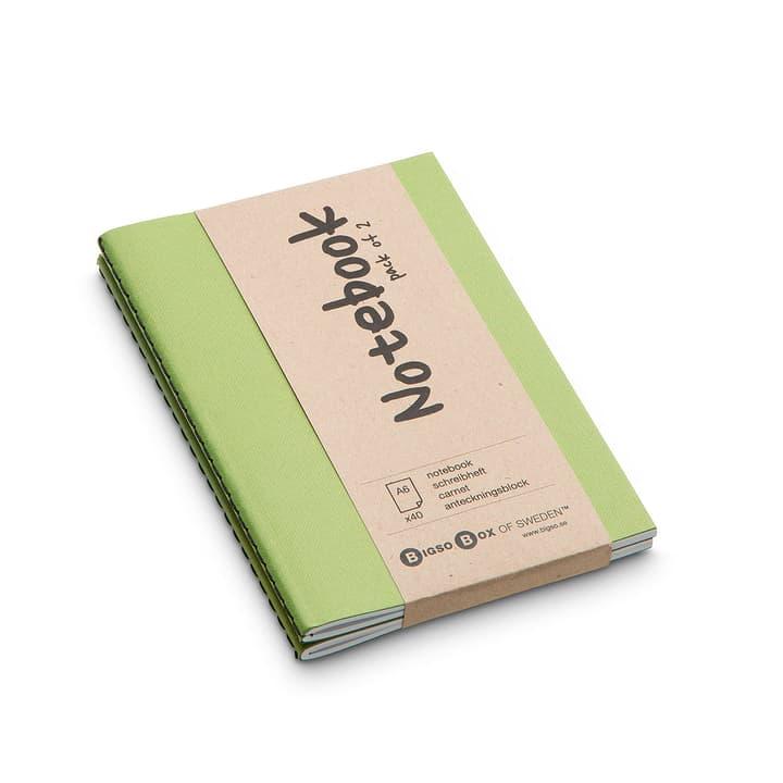 NOTE Notizbuch 2 Stk. A6 386159400000 Farbe Hellgrün Grösse B: 15.0 cm x T: 10.5 cm Bild Nr. 1