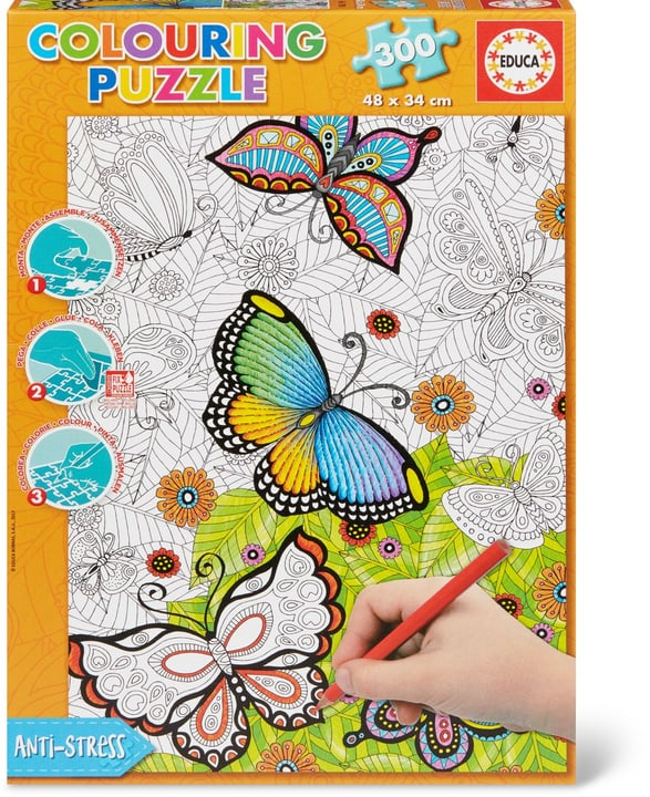 Colouring Puzzle Papillons 300 TLG. 748922090100 Langue Français Photo no. 1