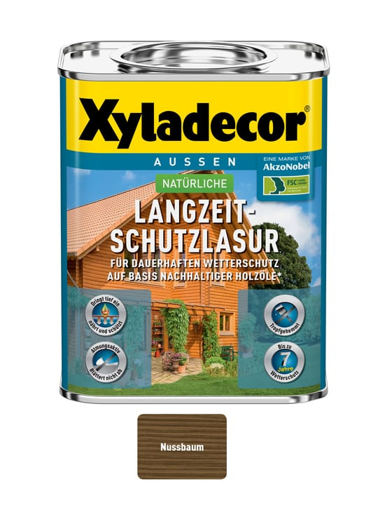 nat. vernis de protection à long terme Noyer 750 ml XYLADECOR 661777500000 Couleur Noyer Contenu 750.0 ml Photo no. 1