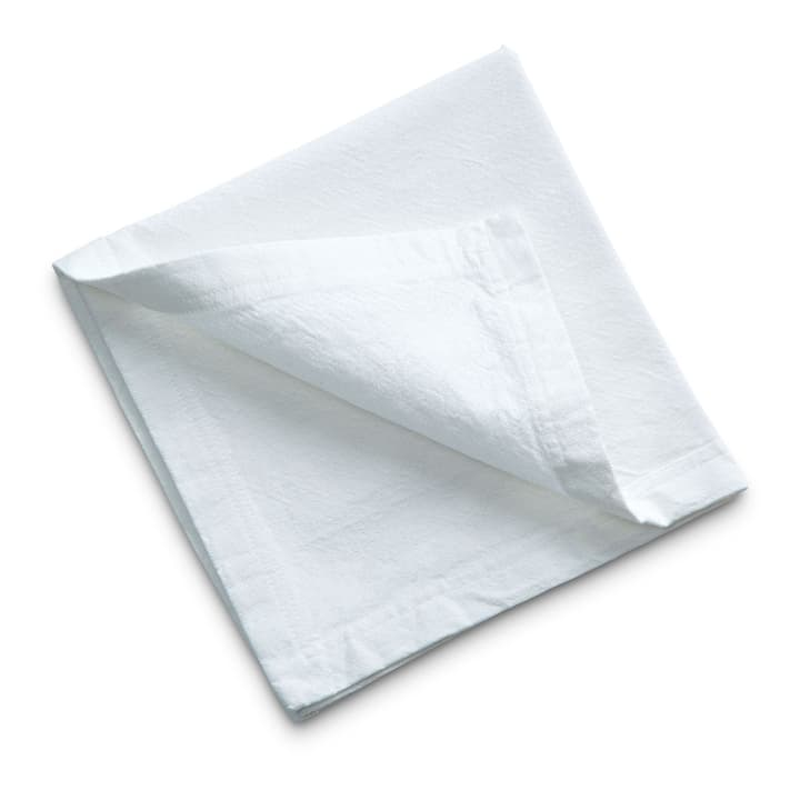 EMCEL Serviette 378151700000 Couleur Blanc Dimensions L: 45.0 cm x P: 45.0 cm Photo no. 1