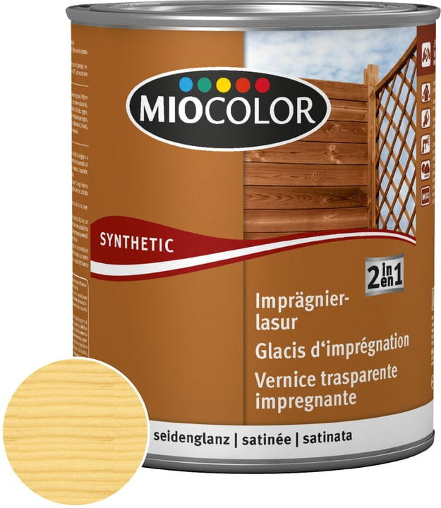 2in1 Imprägnierlasur Miocolor 661181200000 Farbe Farblos Inhalt 750.0 ml Bild Nr. 1