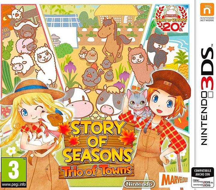 3DS - Story of Seasons: Trio of Towns Fisico (Box) 785300129390 N. figura 1