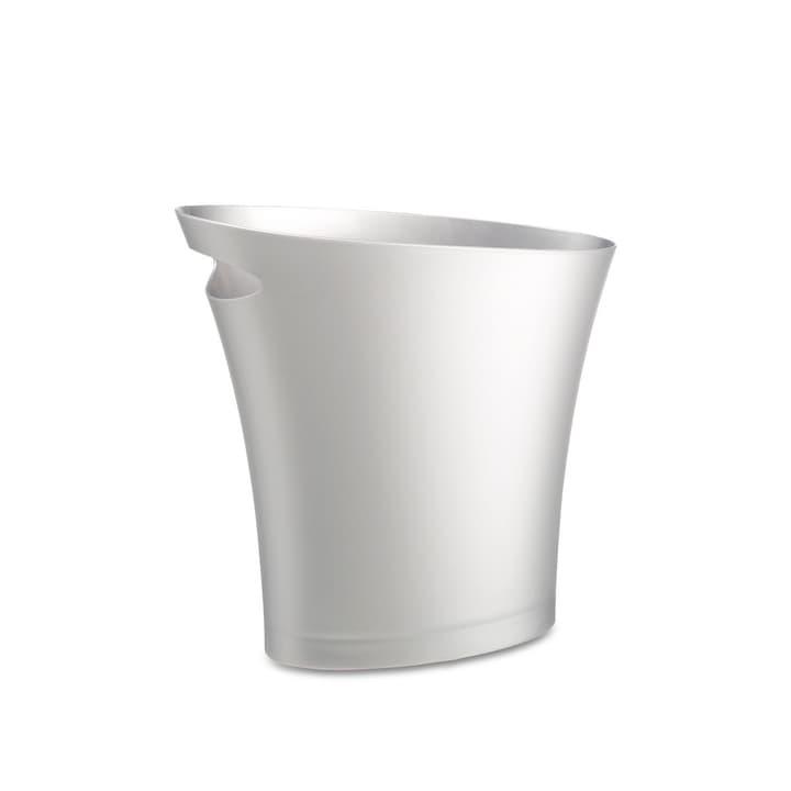 SKINNY CAN Papierkorb silber H30.5 cm 386120300000 Grösse B: 34.0 cm x T: 34.0 cm x H: 30.5 cm Farbe Silberfarben Bild Nr. 1