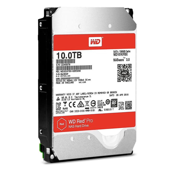 "disco interno rigido Red PRO 10TB NAS SATA 3.5"" Western Digital 785300129400 N. figura 1"