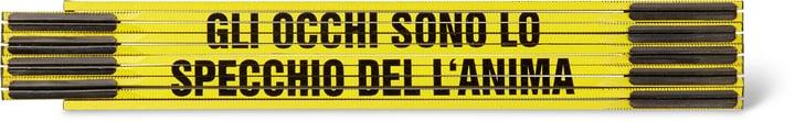 """Klappmeter """"GLI OCCHI SONO LO SPECCHIO DEL L'ANIMA"""", GELB/SCHWARZ"""" 603689000000 Bild Nr. 1"""