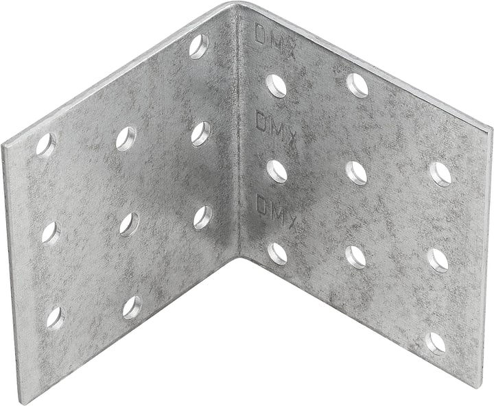 Piastra angolare perforata Do it + Garden 605840800000 Taglio 100 x 100 x 100 mm N. figura 1
