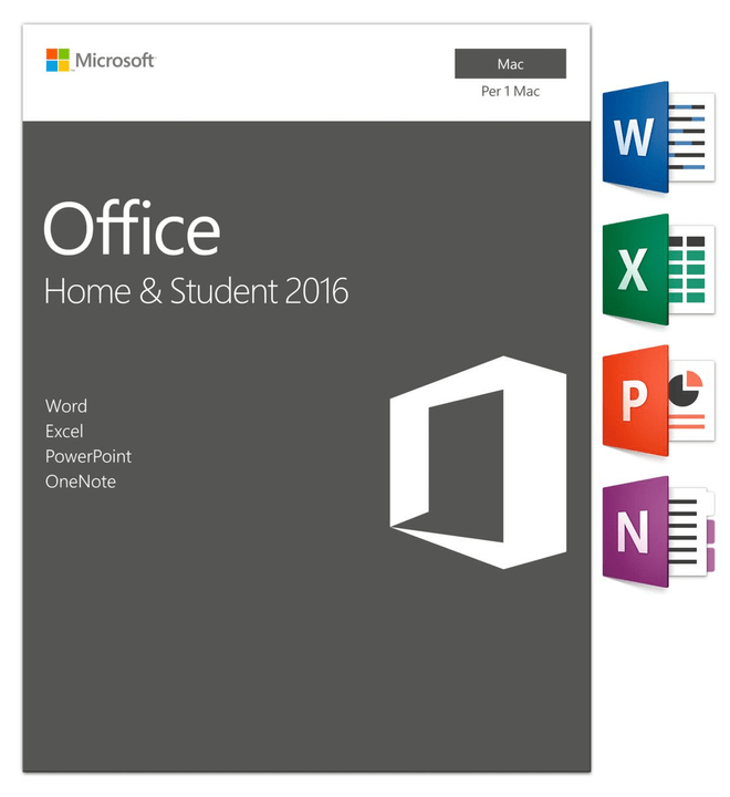 Microsoft Office Home & Student 2016 Mac (I) Physique (Box)