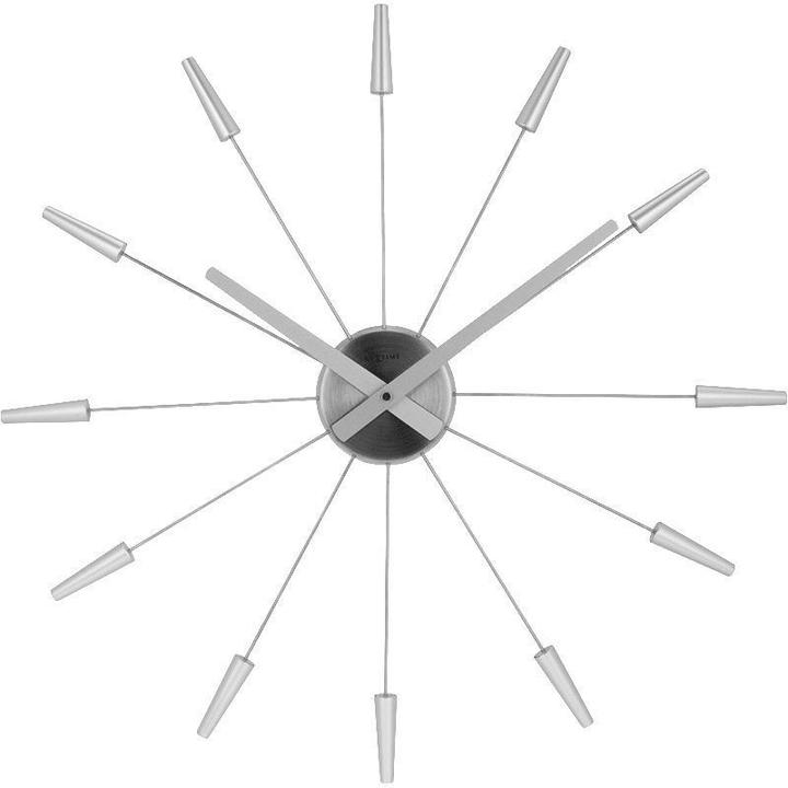 Orologio da muro Plug Inn Silver Diameter Horologe murale NexTime 785300138523 N. figura 1