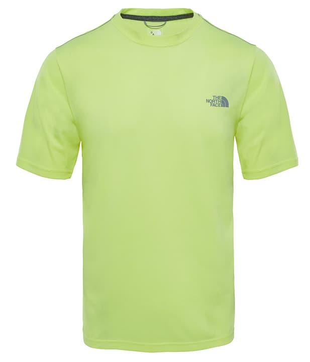 Reaxion Amp Crew T-shirt à manches courtes pour homme The North Face 462777200355 Couleur jaune néon Taille S Photo no. 1