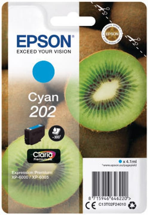 Epson cartouche d'encre 202 cyan Epson 798549000000 Photo no. 1