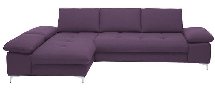 SANDER Canapé d'angle 405666350523 Dimensions L: 290.0 cm x P: 190.0 cm x H: 80.0 cm Couleur Violet Photo no. 1