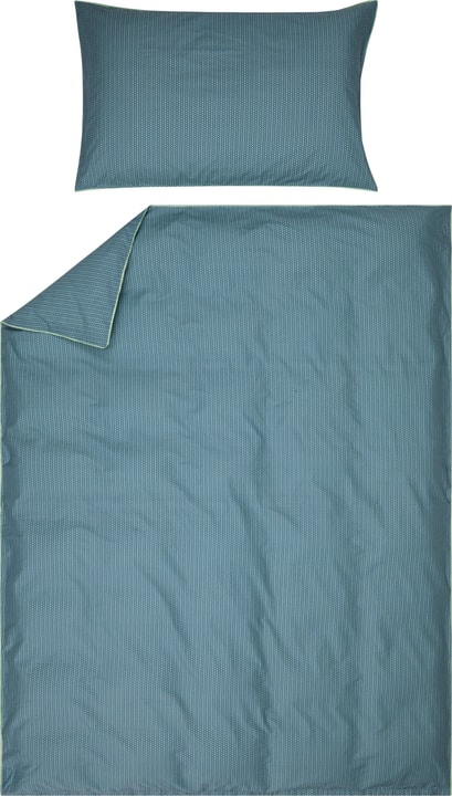 EMILIO Perkal-Kissenbezug 451192510860 Grösse B: 50.0 cm x H: 70.0 cm Farbe Blau Bild Nr. 1