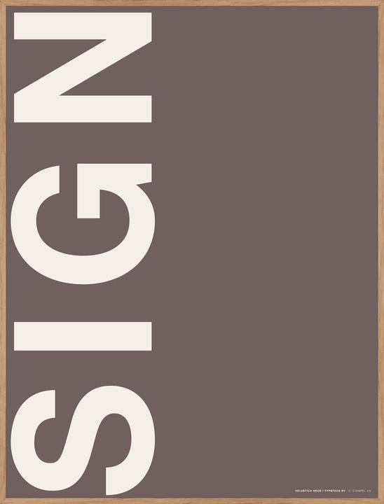SIGN Tableau encadré 384026600000 Photo no. 1