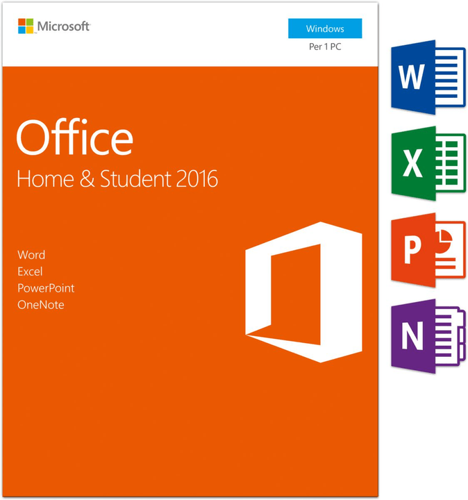 PC - Office Home and Student 2016 Physique (Box) Microsoft 785300121051 Photo no. 1
