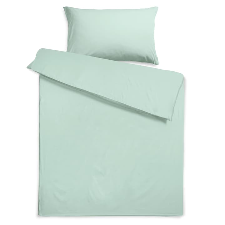 KOS Housse de couette satin 376076712480 Dimensions L: 240.0 cm x L: 160.0 cm Couleur Gray mist Photo no. 1