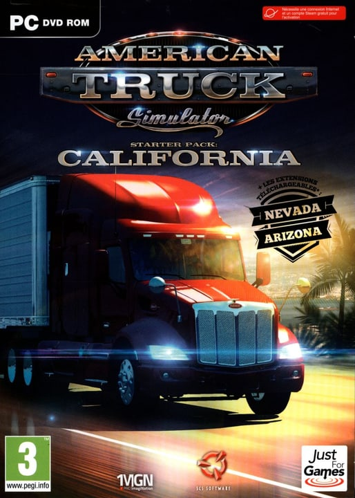 PC - American Truck Simulator - Starter Pack : California Physique (Box) 785300121982 Photo no. 1