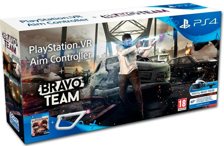 PS4 - Bravo Team VR + Aim Controller Fisico (Box) 785300130693 N. figura 1