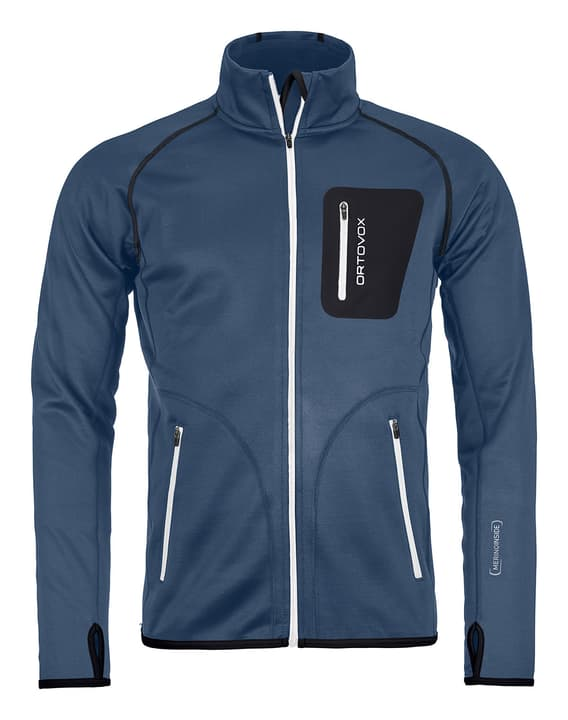 Jacket Men Giacca in pile da uomo Ortovox 465703200322 Colore blu scuro Taglie S N. figura 1