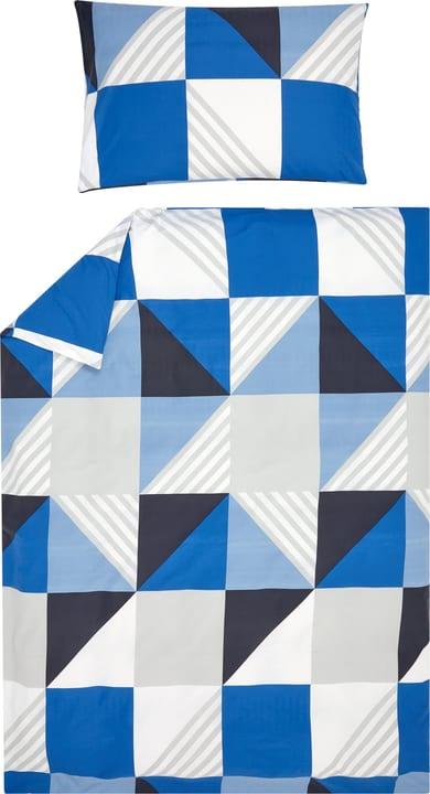 TIMO Bettwäschegarnitur 451302614443 Farbe Blau Grösse B: 160.0 cm x H: 210.0 cm Bild Nr. 1