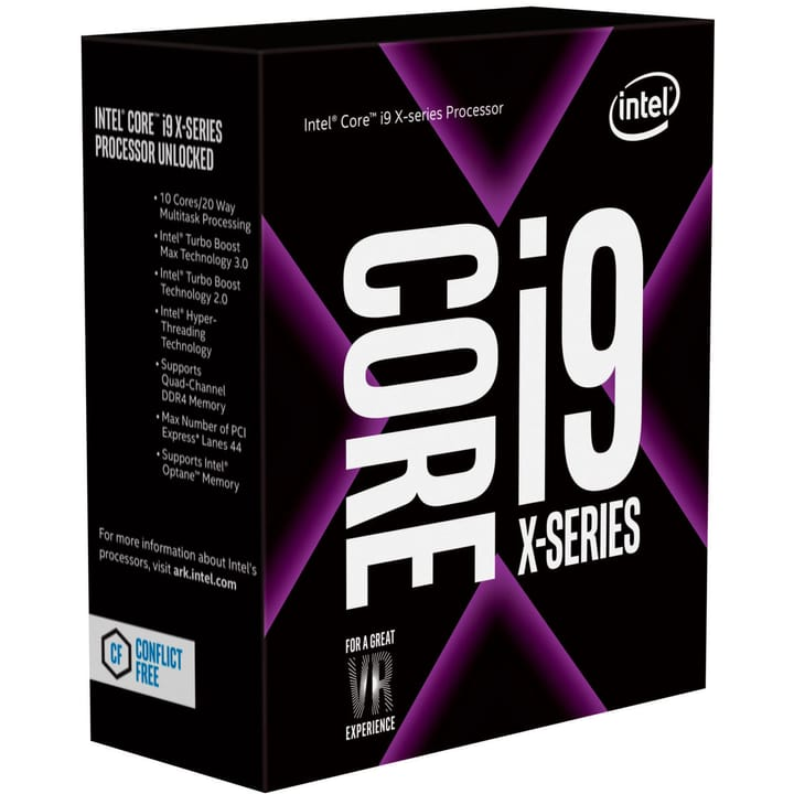 "Processore Ten Core i9-7900X 10x 3.3 GHz ""Skylake"" LGA 2066 boxed (senza ventilatore processore) Intel 785300129030 N. figura 1"
