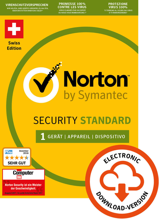 Norton Security Standard 3.0 1 User 1 Year PC/Mac/Android/iOS Digital (ESD) Norton 785300133667 Bild Nr. 1