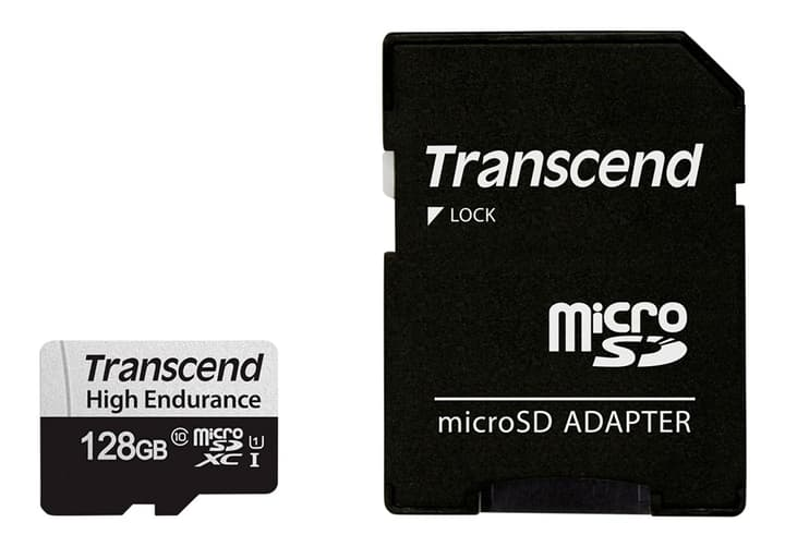microSDXC Card 350V, 128GB SDXC inkl. Adaptateur Cartes mémoire microSD Transcend 785300147310 Photo no. 1