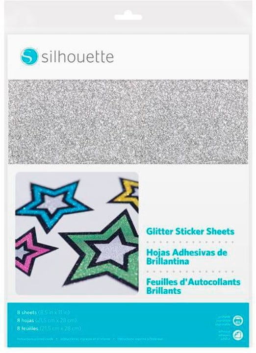 Papier autocollant Glitter argenté Silhouette 785300151360 Photo no. 1