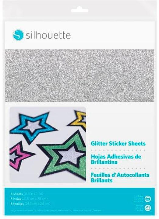 Stickerpapier Glitter Silber Silhouette 785300151360 Bild Nr. 1