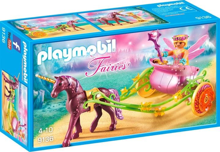 Playmobil Fairies Carrozza della fata dei fiori con unicorno 9136 746077400000 N. figura 1