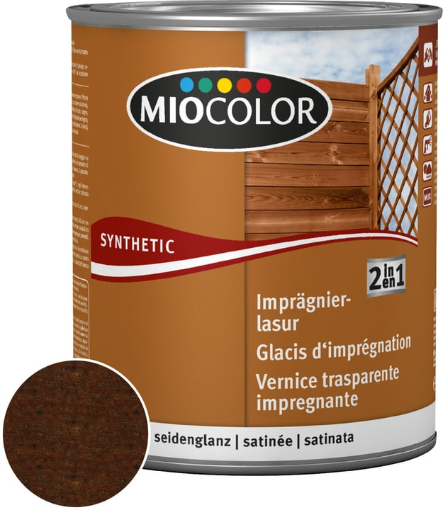 Velatura impregnante 2 in 1 Wengé 2.5 l Miocolor 661182400000 Colore Wengé Contenuto 2.5 l N. figura 1