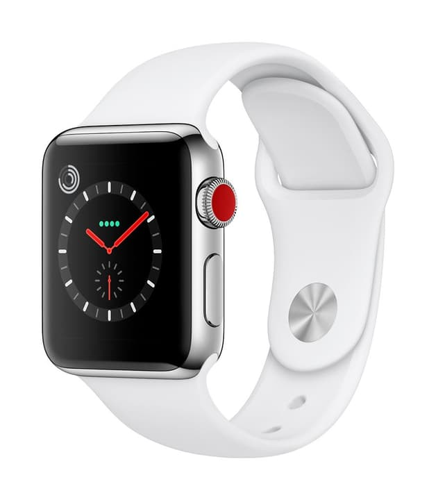 Watch Series 3 GPS/LTE 38mm stainless steel/white sport Apple 785300129990