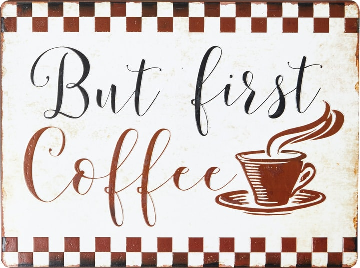 BUT FIRST COFFEE Targa decorativa 431840900000 N. figura 1