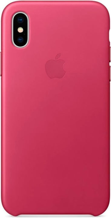 Leather Case iPhone X Rose Fuchsia Hülle Apple 785300130123 Photo no. 1