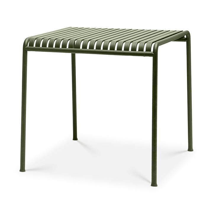 PALISSADE Table HAY 366162000065 Couleur Olive Dimensions L: 82.5 cm x P: 90.0 cm x H: 75.0 cm Photo no. 1
