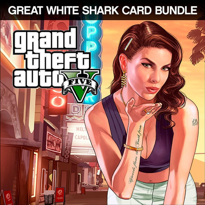 PC - Grand Theft Auto V Great White Shark Cash Card Bundle Download (ESD) 785300133672 N. figura 1