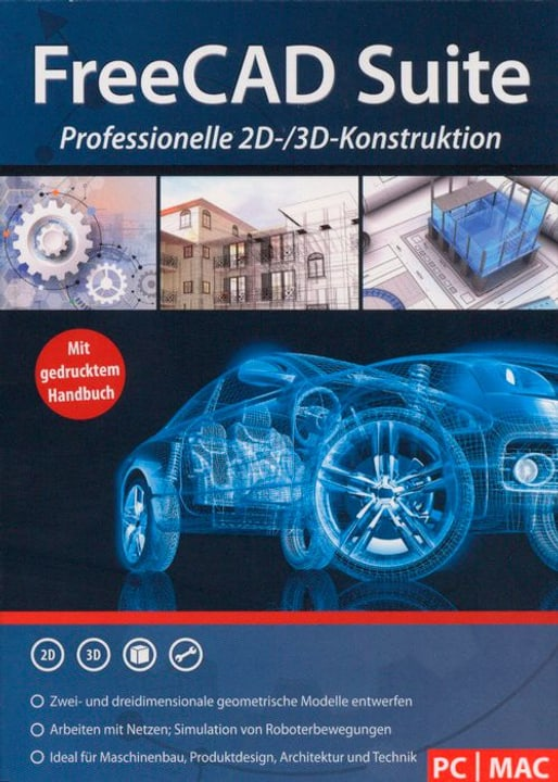PC/Mac - FreeCAD Suite (D) Physisch (Box) 785300129098 Bild Nr. 1