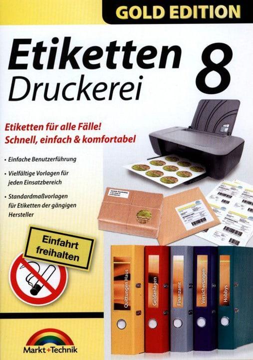 PC Gold Edition: Etiketten Druckerei 8 Physique (Box) 785300122234 Photo no. 1