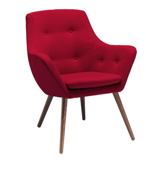 FLORIN Fauteuil (noyer) 402441107030 Dimensions L: 73.0 cm x P: 70.0 cm x H: 82.0 cm Couleur Rouge Photo no. 1