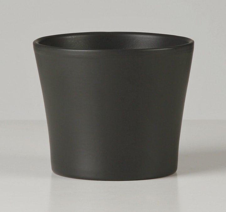 Cache-pot anthracite Scheurich 657420501140 Taille ø: 11.0 cm x H: 10.0 cm Photo no. 1
