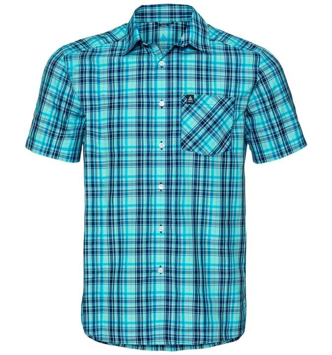 Mythen Herren-Kurzarmhemd Odlo 477069100340 Farbe blau Grösse S Bild-Nr. 1