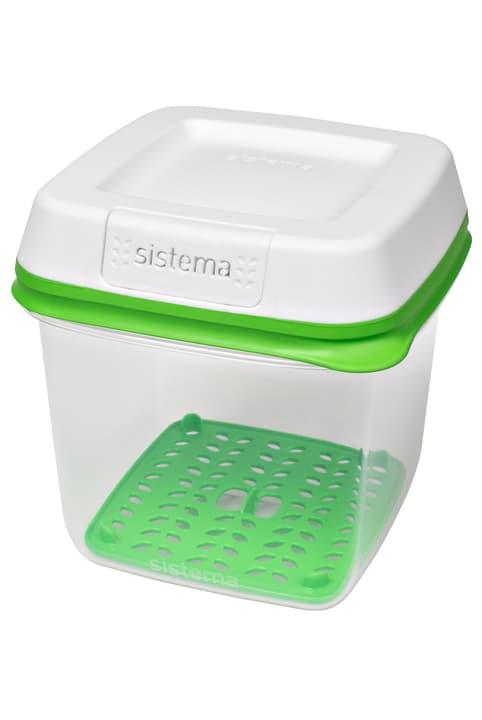 Boîte de conservation Sistema 703727400002 Couleur Vert / Blanc Dimensions L: 14.5 cm x P: 14.5 cm x H: 15.5 cm Photo no. 1