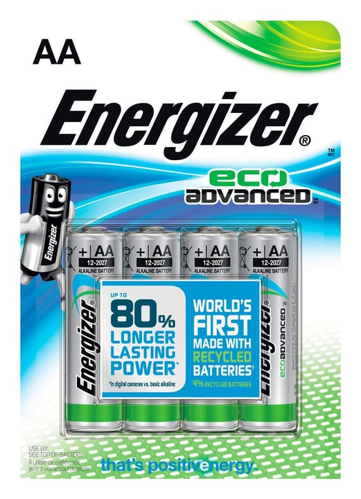Eco advanced AA 4p. Batterie Energizer 704756100000 N. figura 1