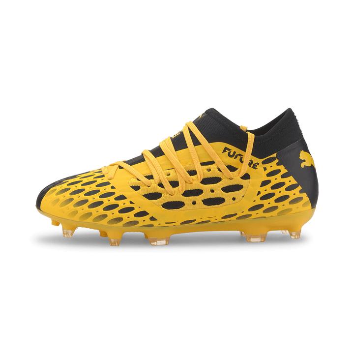 Future 5.3 Netfit FG Scarpa da calcio per bambini Puma 460696828050 Colore giallo Taglie 28 N. figura 1