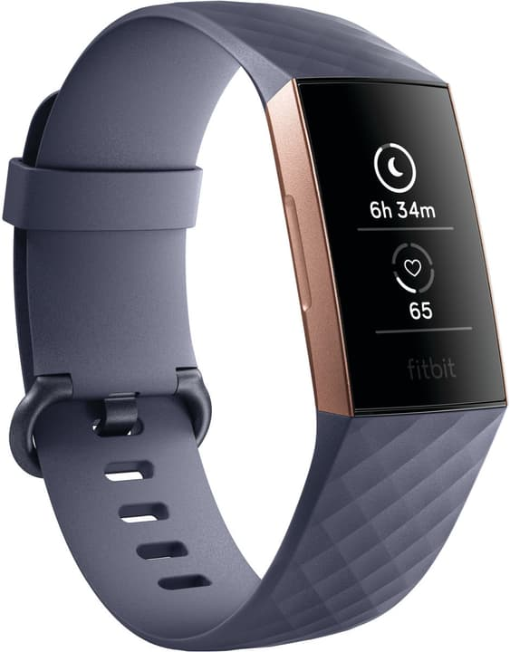 Charge 3 Rose Gold/Blue Gray Activity Tracker Fitbit 798451900000 Bild Nr. 1