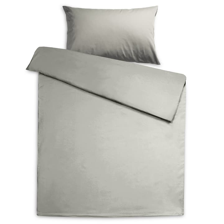 KOS Housse de couette satin 376079512580 Dimensions L: 210.0 cm x L: 200.0 cm Couleur Gris Photo no. 1
